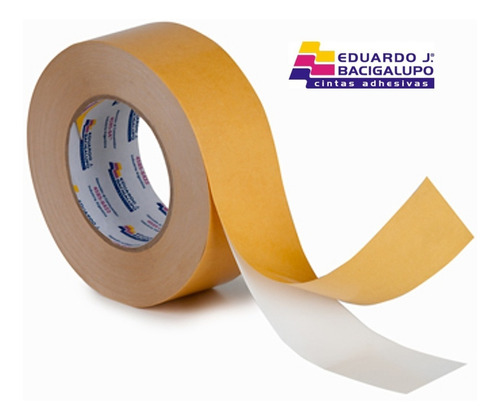 cinta doble faz de papel tissue de 48 mm x 50 mts