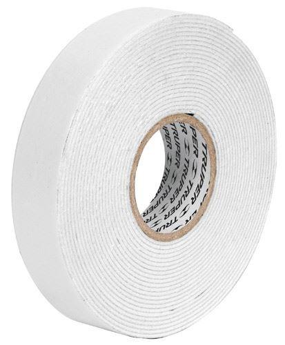 cinta doble faz espuma blanca (r.900gr) 19mm x 2,28mt truper