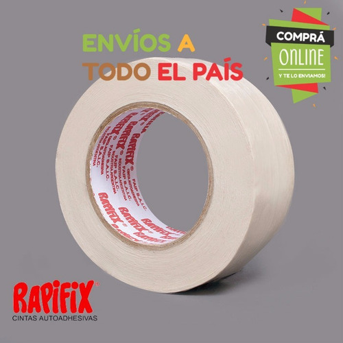cinta doble faz papel rapifix para pegar alfombra 18mm x 30m