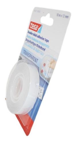 cinta doble faz transparente 12mm x 10m tesa