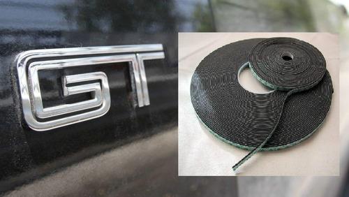 cinta doble faz x pegar insignias - usa - espuma 6mmx1mmx66m