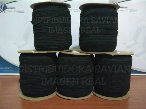 cinta elástica crochet 10mm de 100mts negro