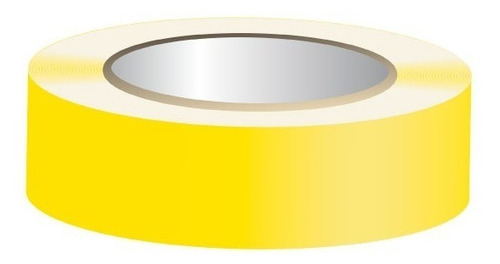 cinta en pvc amarilla señalizacion pisos y rutas 5cm x 30mt