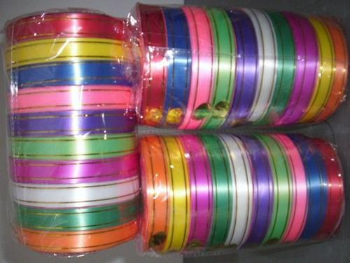 cinta en rollo para moñas de regalos pack multicolor x 10 !