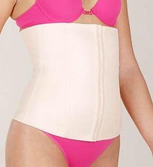 cinta esbelt faixa modeladora cotton feminina bege pp - eg