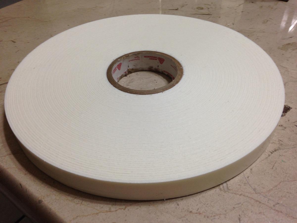 Cinta espuma doble cara adhesivo acrilico 1 pulgada x 33m - Cinta doble cara ...