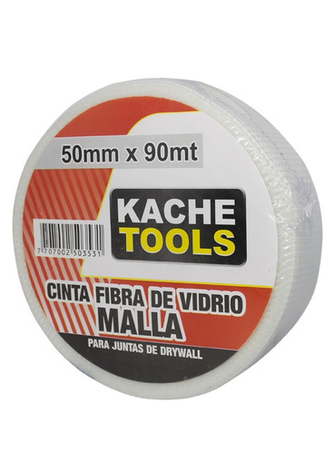 cinta fibra de vidrio 50mm*90mts para yeso carton kache tool