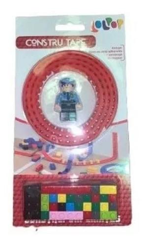 cinta flexible + 1 figura 25 bloques constru tape 92cm edu