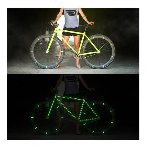cinta fosforescente 10m decoración bicicleta seguridad