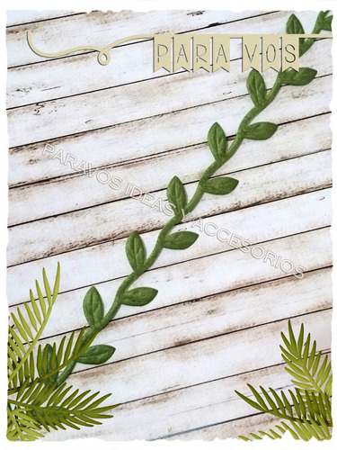 cinta hojitas hojas enredadera hiedra tela deco mates x 10mt