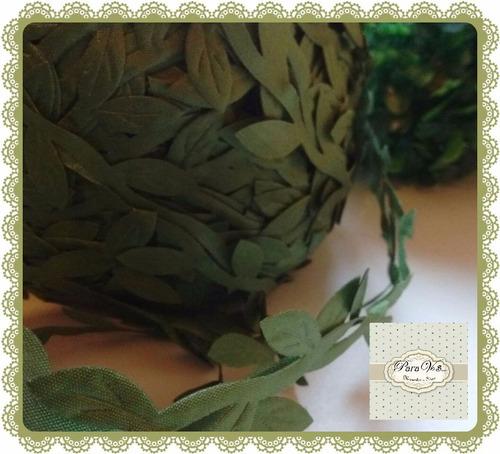 cinta hojitas hojas enredadera hiedra tela selva hadas x 1mt