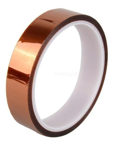 cinta kapton termica sublimaciones tape 15 mm x 33 mts