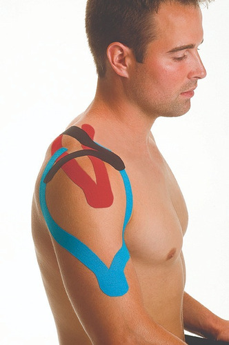 cinta kinesiológica mueller azul vendaje neuromuscular