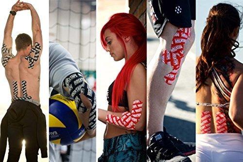 cinta kinesiology de rocktape para atletas (2 pulgadas x 16.