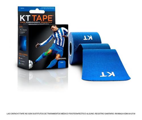 cinta kt tape en algodón color azul claro