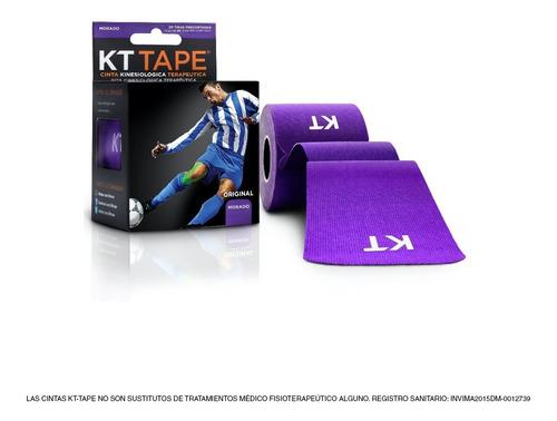 cinta kt tape en algodón color morado