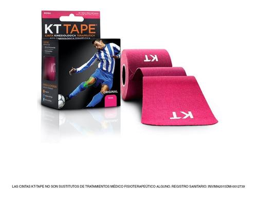 cinta kt tape en algodón color rosa