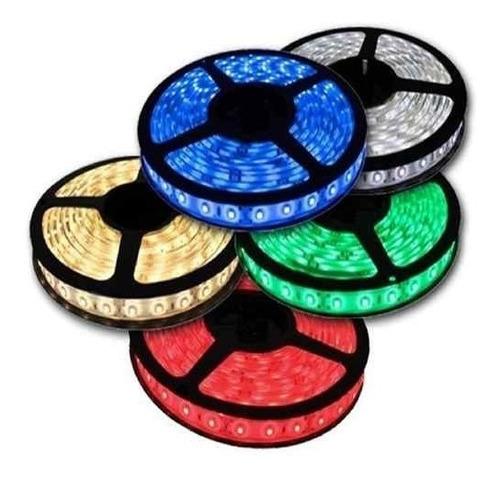 cinta led 5050 12v rgb(multicolor) 5 mt + adaptador completa