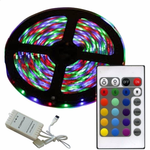cinta led 5050 de 5 metros colores + control