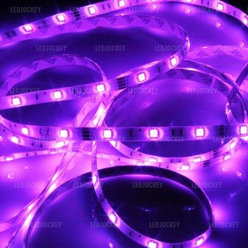 cinta led 5050 rgb 12v siliconeado + fuente decorativo