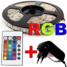 cinta led 5050 rgb mas control y transformador