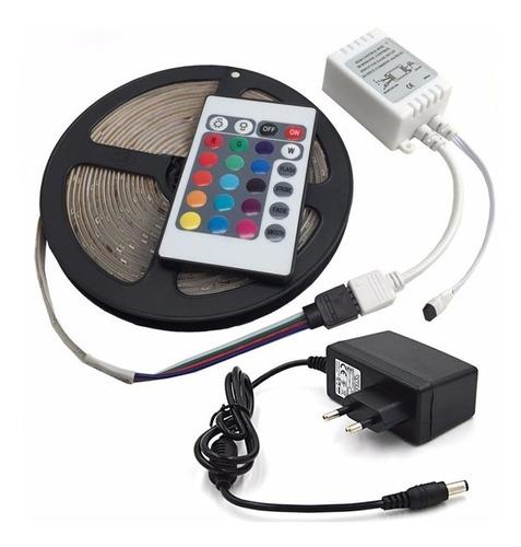 cinta led 5050 rgb multicolor rollo de 5 mts somos tienda !!