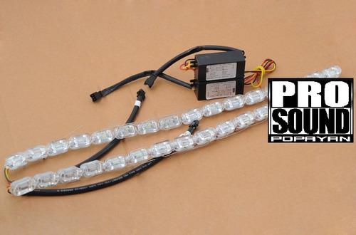 cinta led de cristal flexible con direccional de guia nueva.