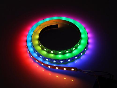 cinta led digital ws2812 5v 60led/mt ip20 magic  rollo 5mt