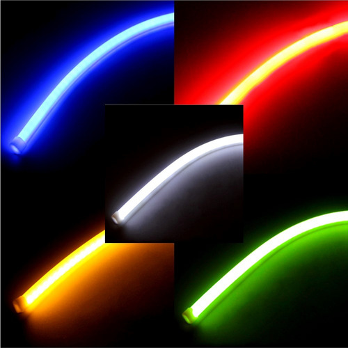 cinta led flexible luz faro aro de angel  63 cm cada cinta