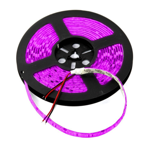 cinta led lila 5m 12v 5050 resistente al agua y polvo