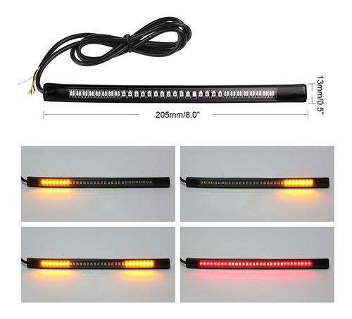 cinta led moto stop direccionales integrado flexible