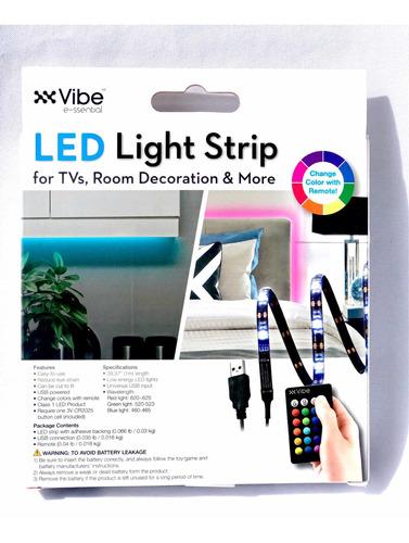 cinta led rgb para tv multicolor - tira conector usb