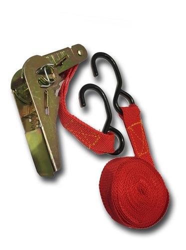 cinta linga amarre con malacate 5m roja cuatri moto crique
