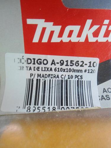cinta lixa 610mmx10cm largura grão 120