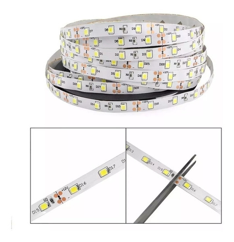cinta luces tira led 5mt rgb multicolor 3045 ml1739