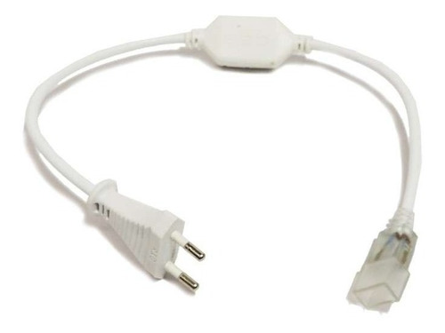 cinta luz led 20mt luz blanca fria silicona + conector 220v