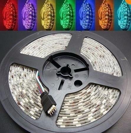 cinta luz led multicolor 5050 rgb decoración 5mt - tuning