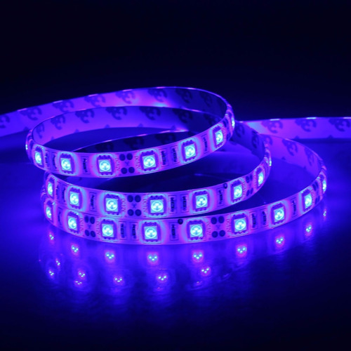 cinta luz led unicolor 5050 decoración casas 5mt - tuning