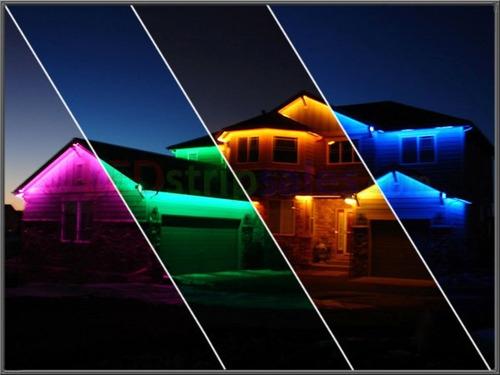 cinta manguera luz led unicolor y rgb 5050 directa a 110v