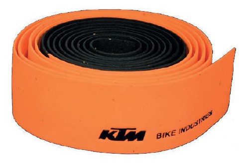 cinta manubrio bicicleta ktm corcho negro naranja - racer