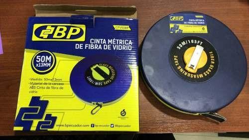 cinta metrica de fibra de vidrio marca bp 50mts