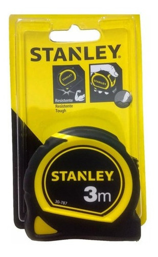 cinta metrica stanley 3 metros acero - nylon 30-787 stanley