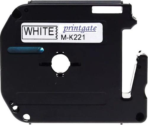 cinta mk 221 9mm negro / blan p/ rotuladora brother pt 80 90