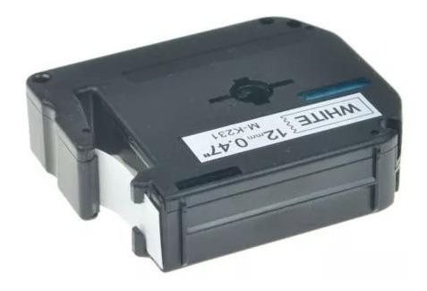 cinta mk-231 12mm 047  rotuladora para brother pt65 70 80 90