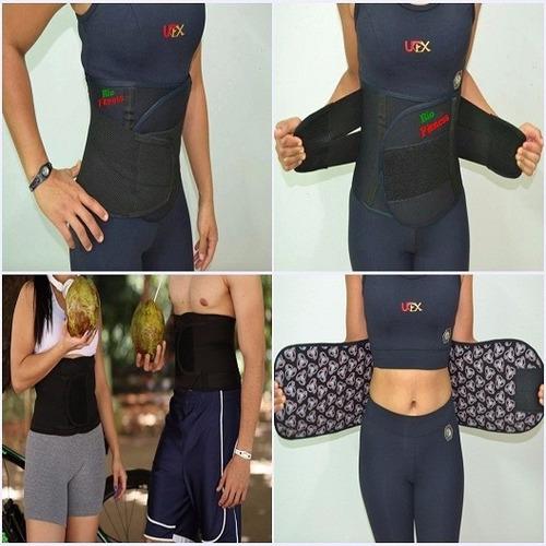 cinta modeladora abdominal ajustável térmica bio- fitness