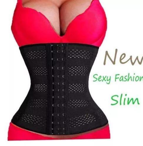 cinta modeladora abdominal feminina afina - promoção só hoje
