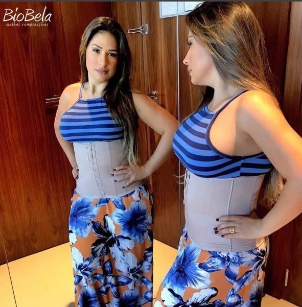 b9d90d9f0 Cinta Modeladora Abdominal Simone E Simaria - Biobela - R  176