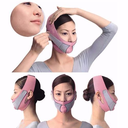 cinta modeladora facial unisex afina rosto máscara emagrece