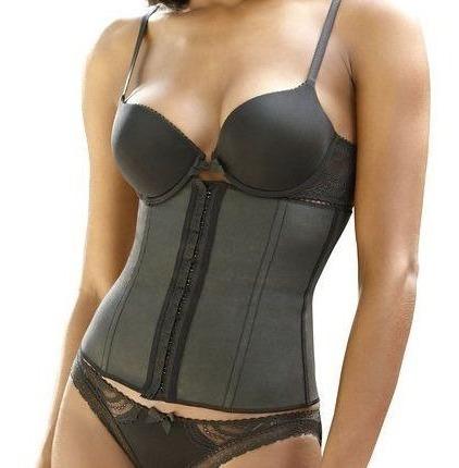 cinta modeladora feminina emborrachada cotton ref 415 esbelt