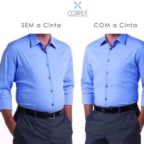 cinta modeladora masculina colete cirúrgico postura reforço